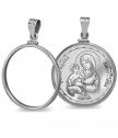 Silver Pendant St. Virgin Mercy