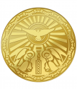 St. Mina's medal with complete gilding