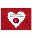 Истинска червена роза за БАБА в рамка