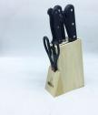Функционален сет за кухня с ножове,точило и ножица