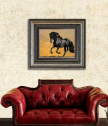 Репродукция Породист Черен кон