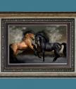 Репродукция Двойка Расови коне
