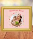 Колаж с цветя с Ваша снимка и текст