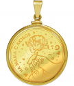 "Pendant ""For Mom"" with complete gilding"