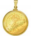 """Медальон """"За Мама"""" с цялостна позлата"""