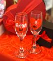 Чаши за шампанско за влюбени