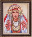 Репродукция с фолклорни мотиви Българка
