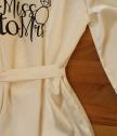 Сатенен халат за Булка с надпис