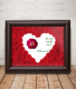 Истинска червена роза в рамка за любимата жена