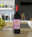 Wine with a personalized photo label for a beloved woman