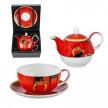 Котки комплект чаша и чайник