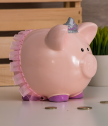 Piggy Bank in Pink