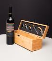 Бамбуков сет за вино с гравиран текст