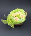 Панерче с вечни карамфили и хризантема