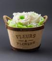 Вечни рози в панерче Flowers