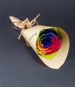 Букетче с многоцветцветна вечна роза