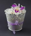 Истинска орхидея във винтидж кашпа