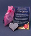 Медальон Сърце с истински метеорит