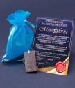 Медальон с правоъгълна плочка от истински метеорит