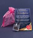 Медальон квадрат с парченце от истински метеорит