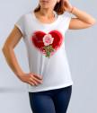 Бяла тениска за най-добрата майка с роза
