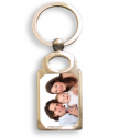 Metal keychain with your photo and text