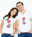 T-shirts for him and her to fly out of love