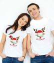 Комплект тениски Весела Коледа с Рудолф
