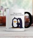 Керамична чаша с двойка пингвинчета