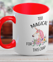 Cup Too magical with unicorn