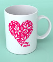 A cup for a mother with a heart