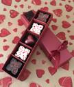 Пет ръчни любовни шоколадови бонбона в кутийка