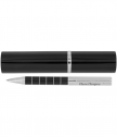 Engraved luxury ballpoint pen in black tube