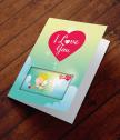 Картичка с добавена реалност Обичам те