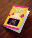 Картичка с добавена реалност Празнични балони