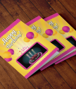 Augmented Reality card Festive balloons