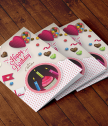 Added reality card festive candies