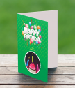 Картичка с добавена реалност Празнични конфети