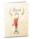 Added reality card Thank you with girl