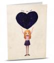 Картичка с добавена реалност Ти си моята вселена