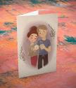 Картичка с добавена реалност Влюбена двойка