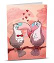 Картичка с добавена реалност Влюбени птици