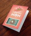 Картичка с добавена реалност I Love You Mom