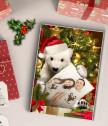 Коледен колаж Бяла мечка