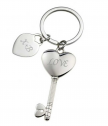 Engraved Metal keychain Key to Heart