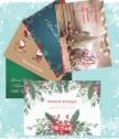 Коледни картички различни видове