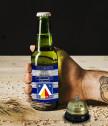 Бира с персонализиран етикет Левски и звънец за бира