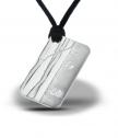 Сребърно кюлче-медальон Бреза