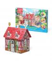 Kъщичка за игра, сглобяване и оцветяване COUNTRY HOUSE 3D