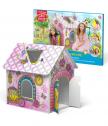 Kъщичка за игра, сглобяване и оцветяване PRINCESS 3D